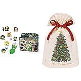 オリケシ 鬼滅の刃 スタンダードセット + インディゴ クリスマス ラッピング袋 コットンバッグL クリスマスツリー グリーン XG609