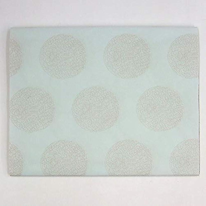 に慣れ狂ったグッゲンハイム美術館半切 万里 染 全面万寿紋打ち 薄水色 10枚 漢字用 加工紙