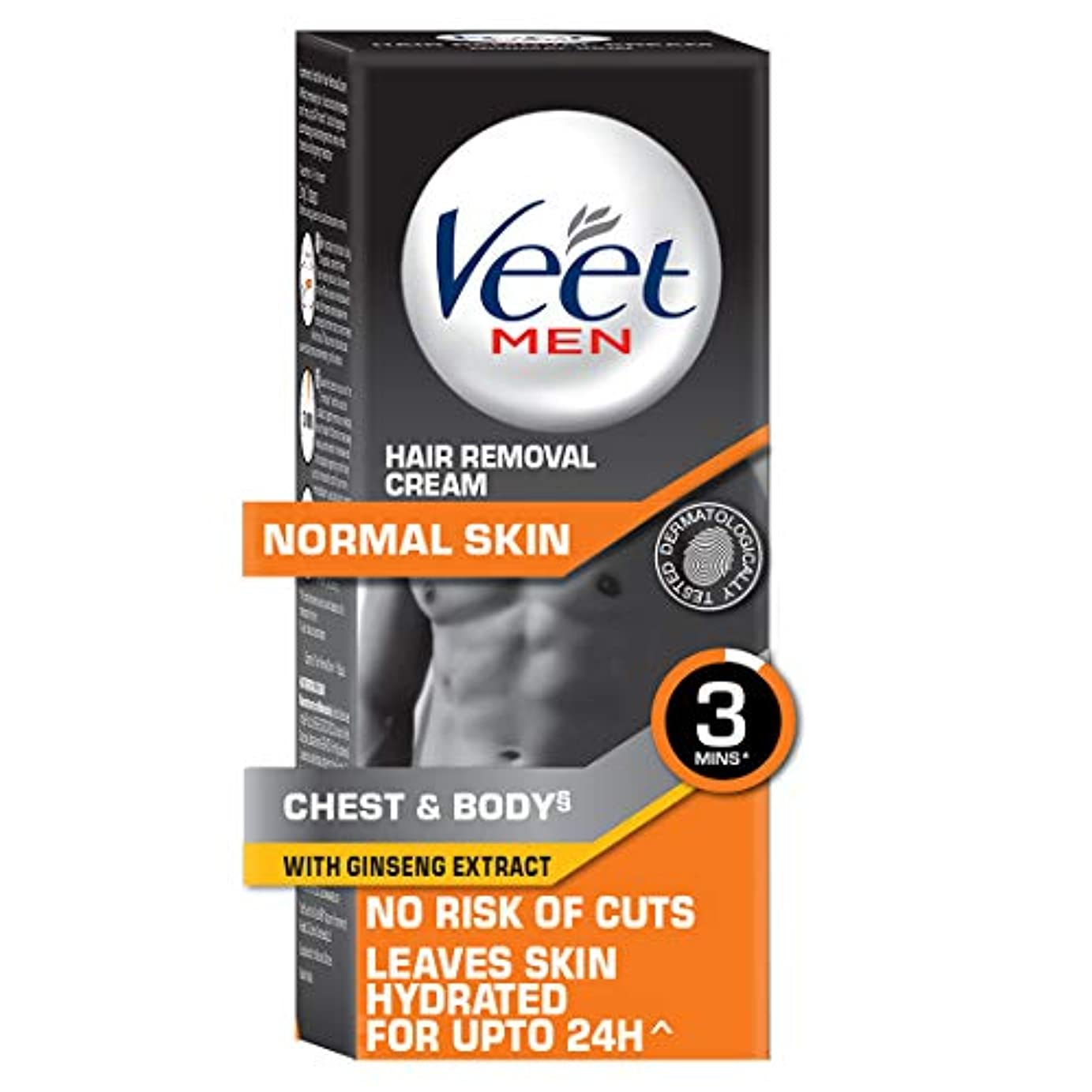 コンセンサス飲み込むポーチVeet Hair Removal Cream for Men, Normal Skin - 50g