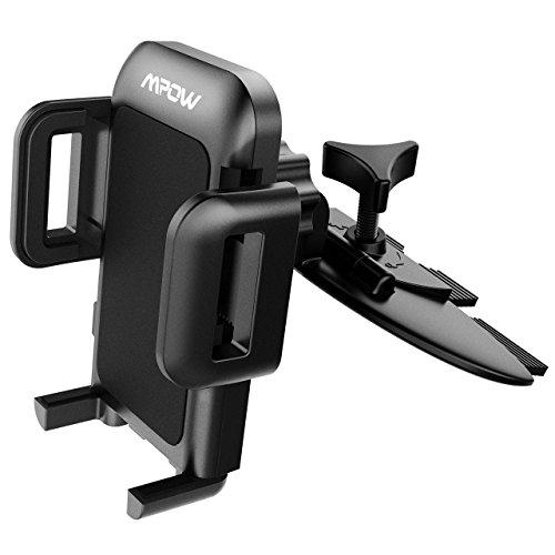 Mpow GripPro2 車載ホルダー 360度回転可能 汎用スマホに対応 CD/DVDスロット取り付け