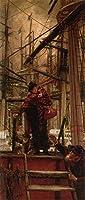 ¥5K-200k 手書き-キャンバスの油絵 - 美術大学の先生直筆 - Emigrants James Jacques Joseph Tissot 絵画 洋画 複製画 ウォールアートデコレーション -サイズ13