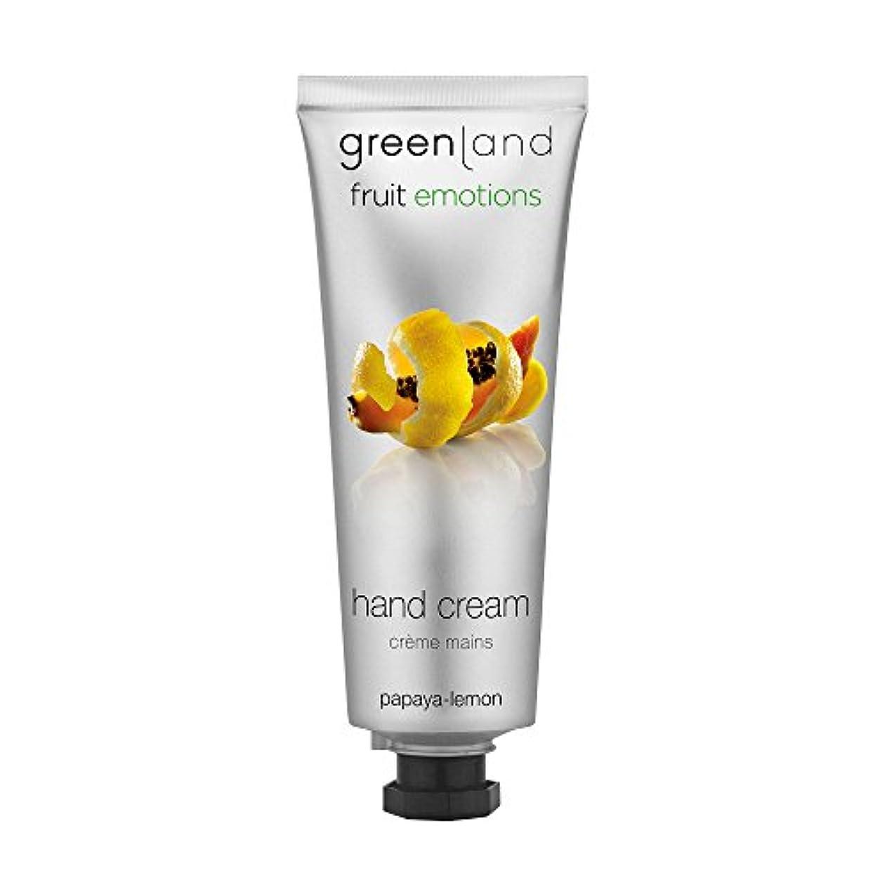 浴公平なそのgreenland [FruitEmotions] ハンドクリーム 75ml パパイア&レモン FE0531