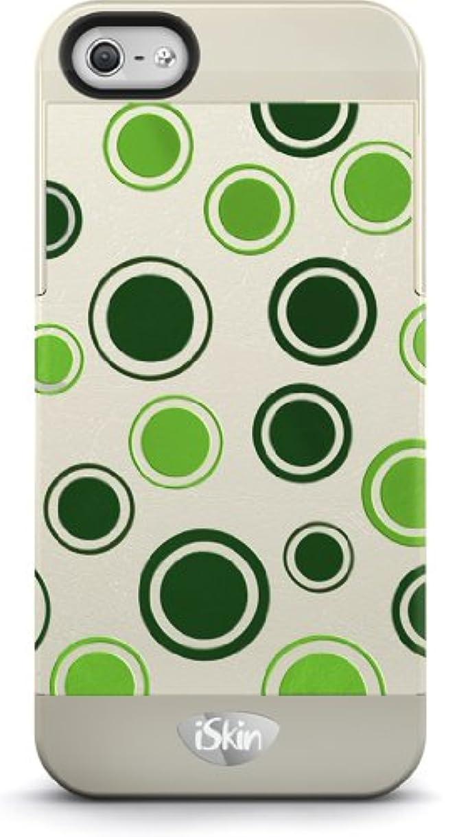 斧証明するナットiSkin ハードケース vibes Polka Dot for iPhone5/5S Green VBPKD5-GN3