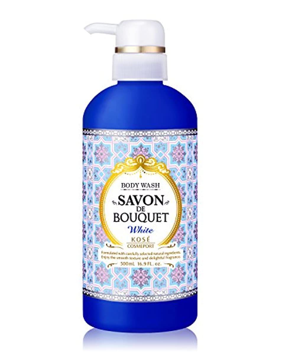 雪だるま添加剤杖KOSE コーセー サボンドブーケ ホワイト ボディウォッシュ 100%純せっけん 500ml