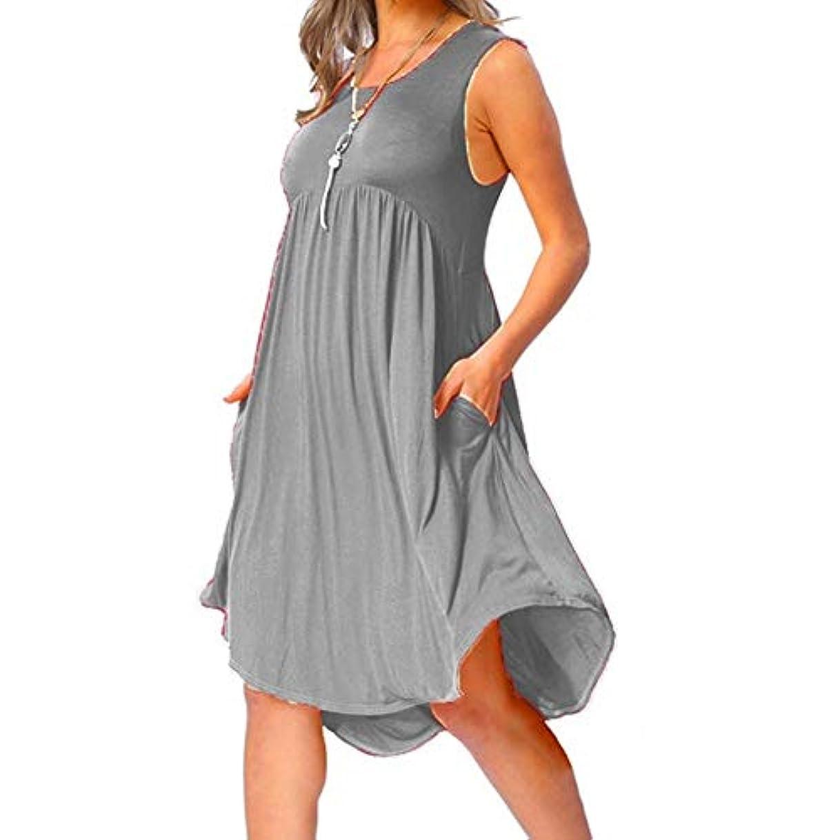 大統領原油媒染剤MIFAN の女性のドレスカジュアルな不規則なドレスルースサマービーチTシャツドレス
