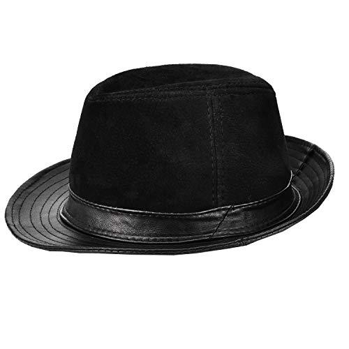 本革 羊革 レザーハット メンズ 帽子 大きいサイズ 無地 中折ハット つば広 レザー 紳士帽 春 秋 冬 大きなサイズ 59 60CM 高級感 人気 プレゼント 5のスタイル(スエード)