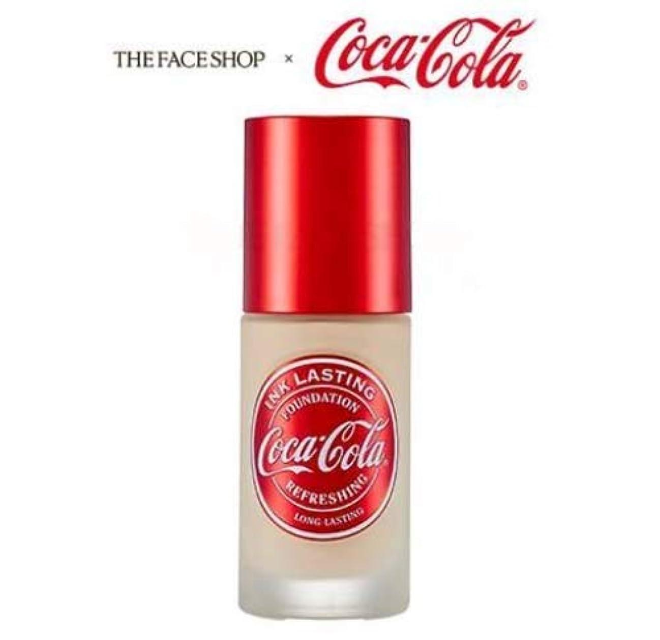 運搬金銭的中央[ザ?フェイスショップ] THE FACE SHOP [コカ?コーラ インクラスティングファンデーション - スリムフィット 30ml] (Coca Cola Ink Lasting Foundation - Slim...