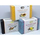 GT COSMETICS 無添加 ココナッツ&パパイヤ,レモン,キャロットソープ 120g 各1個ずつ 3個セット