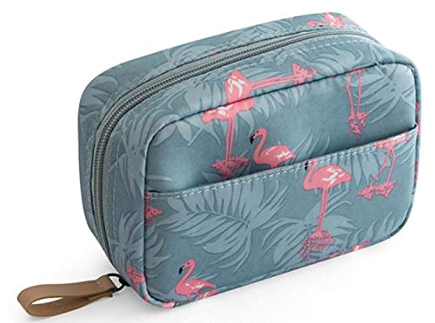 化粧ポーチ メイクポーチ コスメポーチ トイレタリーバッグ 化粧品収納 出張 小物入れ 仕分け収納 防水 大容量 フラミンゴ。
