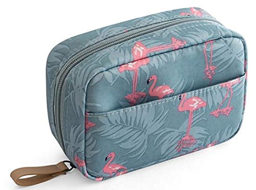 量付与サバント化粧ポーチ メイクポーチ コスメポーチ トイレタリーバッグ 化粧品収納 出張 小物入れ 仕分け収納 防水 大容量 フラミンゴ。
