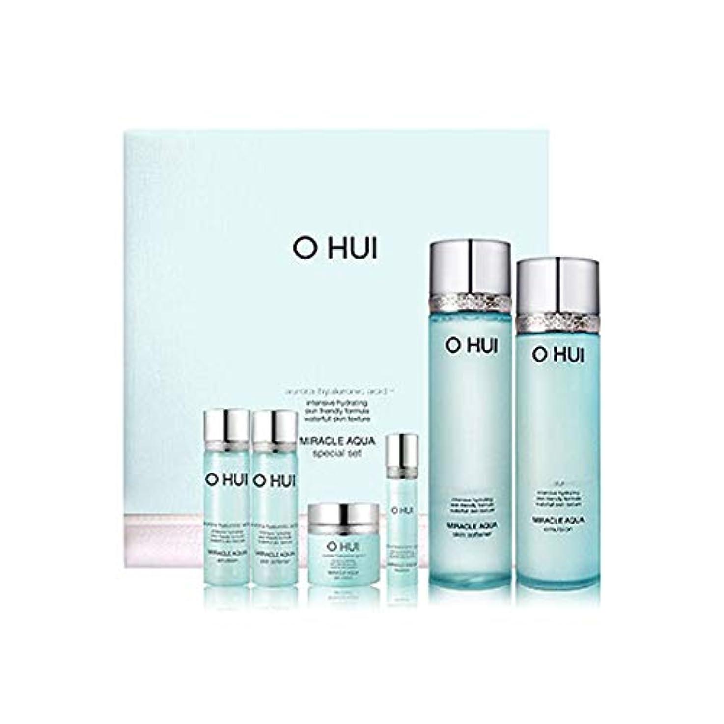 マザーランドハンカチ行政オフィミラクルアクアスキンソフナーエマルジョンセット韓国コスメ、O Hui Miracle Aqua Skin Softener Emulsion Set Korean Cosmetics [並行輸入品]