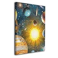 GYUUG 太陽系絵 アートパネル 絵画 太陽系 ポスター アート 絵画 玄関に飾る絵画 絵画 おしゃれ 壁掛け インテリア 絵 アートアートポスター 40cm*50cm
