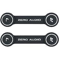 ZERO AUDIO ヘッドホンクリップ ブラック/ホワイト  2個入 ZA-CLP-KW
