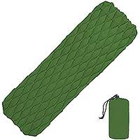 エアスリーピングパッド、コンパクトな睡眠マットレス軽量耐久性インフレータブルバックパックを背負ってキャンプ