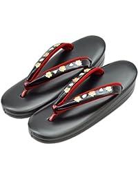 草履 単品 草履SP ソフトフィット 黒 螺鈿 L 小紋 紬用 Lサイズ 日本製 レディース