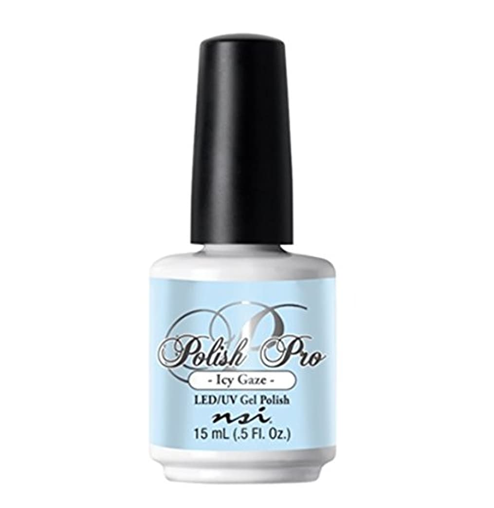 皮肉農学交流するNSI Polish Pro Gel Polish - The Ice Queen Collection - Icy Gaze - 15 ml/0.5 oz