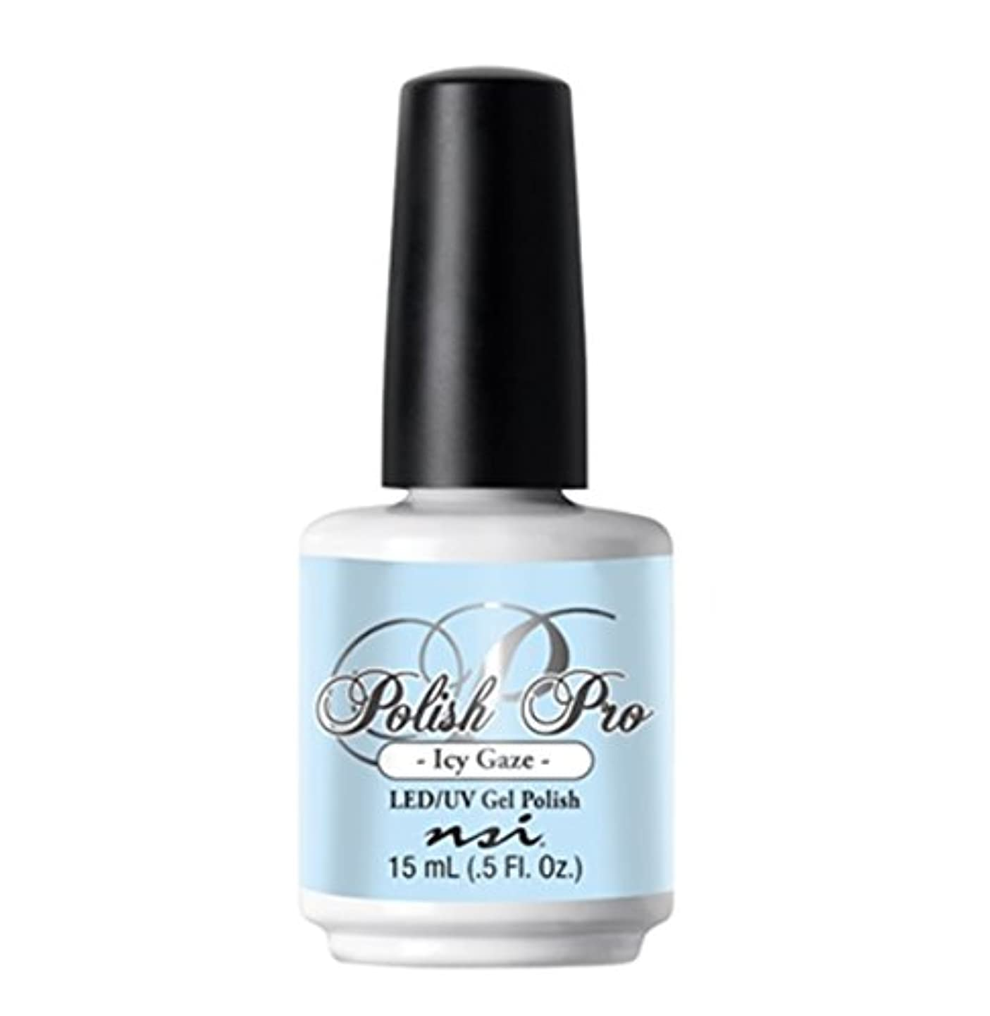 高価なマウスピース人工的なNSI Polish Pro Gel Polish - The Ice Queen Collection - Icy Gaze - 15 ml/0.5 oz