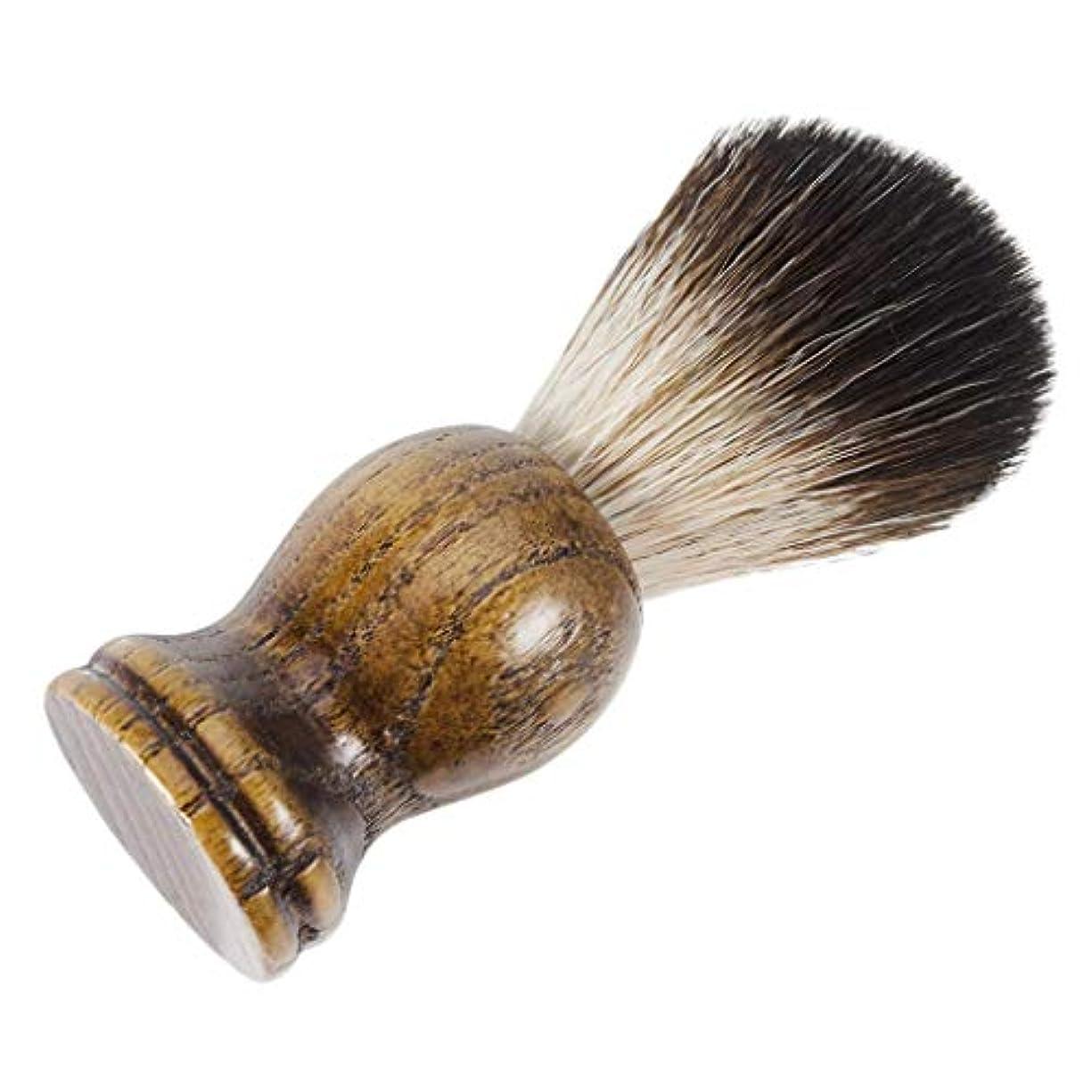 アルカトラズ島振りかける排出シェービング用ブラシ メンズ 理容 洗顔 髭剃り 泡立ち