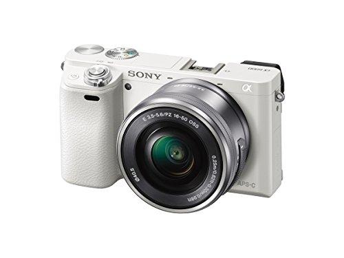 ソニー SONY ミラーレス一眼 α6000 パワーズームレンズキット E PZ 16-50mm F3.5-5.6 OSS ホワイト ILCE-6000L W