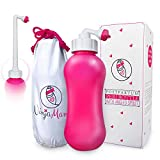 Peri Bottle for Soothing Postpartum Care. Post Partum 15oz Portable Perineal Bottle with Angled Spout - for Pain & Hemmoroid Treatment After Childbirth - Labor & Delivery Hospital Bag. Shower Gift.