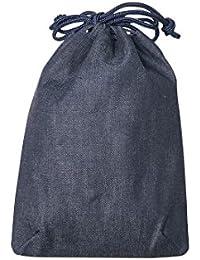 信玄袋 メンズ 巾着 岡山 児島デニム 信玄袋 (紺無地 t-500)