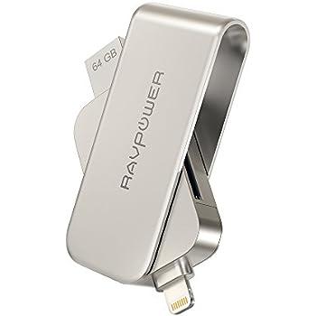 RAVPower 1本3役 iPhoneメモリ 【ライトニング & SDカードリーダー & パソコンUSBメモリ 】フラッシュドライブ Apple認証 MFI iPhone iPad iPod用 64GB RP-IM004JP (64G)