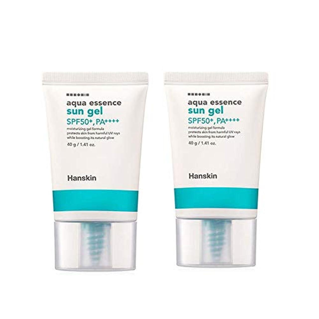 伝染病プランテーション開発ハンスキンアクアエッセンスサンゼル40gx2本セットサンクリーム韓国コスメ、Hanskin Aqua Essence Sun Gel 40g x 2ea Set Sun Cream Korean Cosmetics [並行輸入品]