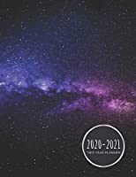 Two Year Planner 2020-2021: Teal/Pink Galaxy Planner January 1, 2020 to December 31, 2021 Weekly & Monthly Planner + Calendar Views 2 Year Calendar 24 Month Agenda Planner Gift For Space Lovers