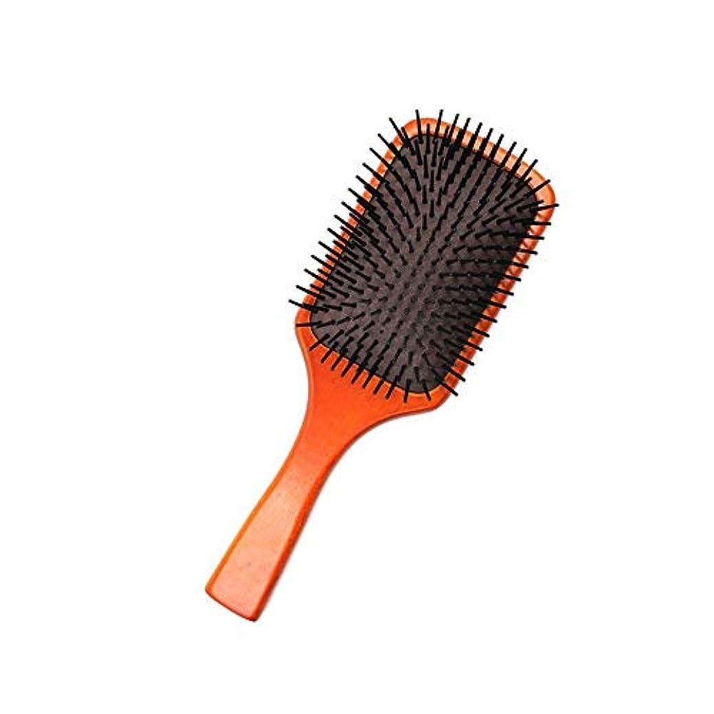 暖かく骨髄潜在的なFashianバーチ木製ヘアブラシマッサージくし頭皮ブラシエアクッションコームズ帯電防止 ヘアケア (色 : Photo color)