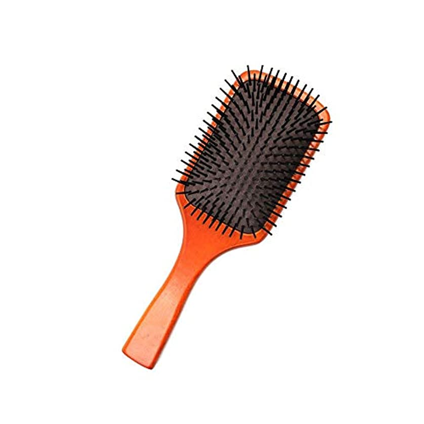 差別化する定期的導出ZYDP 帯電防止木の毛のブラシのマッサージの櫛のブラシ (色 : Photo color)