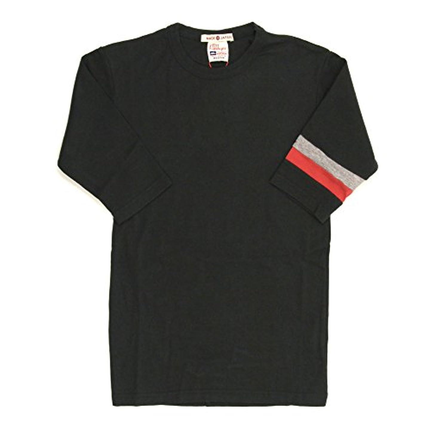 舌ハイランド重さ(クリフメイヤー) KRIFF MAYER 2トーン カラー 5分袖 クルーネック Tシャツ カットソー タイトシルエット 重ね着 KM839900A
