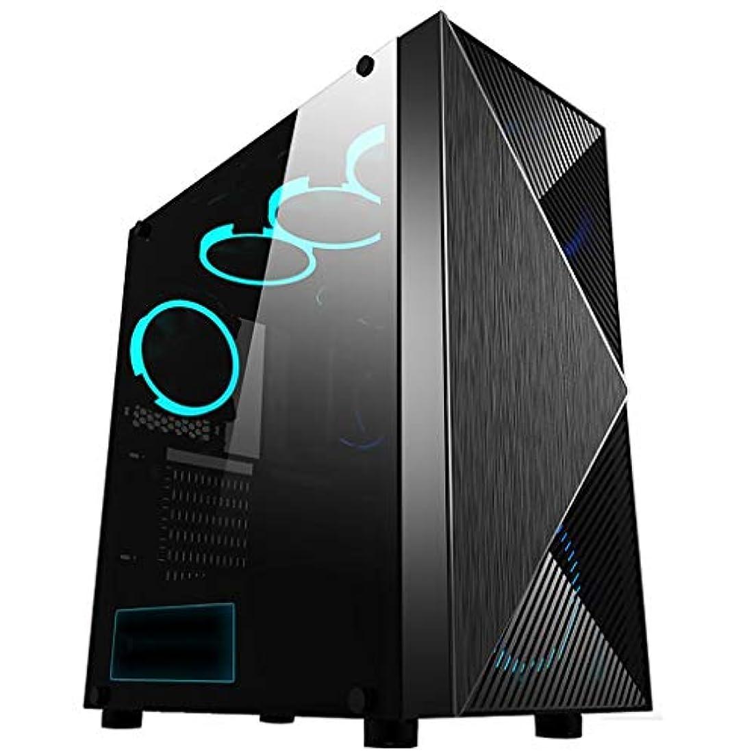 チューリップ学生タービンXZ15 コンピューターケース、ミディアムタワーITX/M-ATX/ATX/E-ATX、高速転送USB3.0、空冷と水冷をサポート、ウィンドウサイドパネル、ゲーマーに最適 (Color : Black)