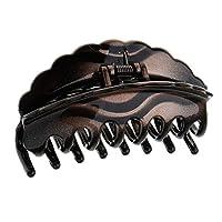 ヘアクリップ ちょう結び アクリル 髪の爪 ヴィンテージ ヘアスタイル 全4色 - 褐色
