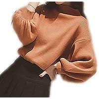 [アルジェント アパ] ニット セーター 秋 冬 トップス パフスリーブ バルーン袖 ハイネック ゆったり