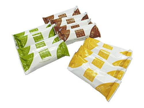 ソイピュアバー 12本セット チーズ・チョコ・抹茶【糖質 制限・減量中の方へ低糖質&グルテンフリー】