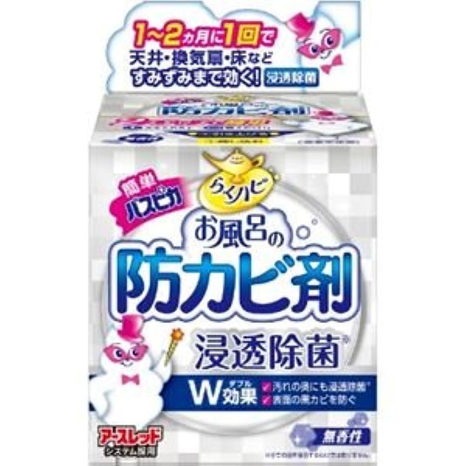 (まとめ)アース製薬 らくハピお風呂の防カビ剤無香性 【×3点セット】