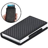 Twinkle goods (ツインクルグッズ) クレジットカードケース RFID 磁気防止 出し入れ簡単 スライド式 カードケース クレジットカード 収納 薄型 携帯に便利 ビジネスアイテム カード6枚+カバー部収納 メンズ レディース ユニセックス
