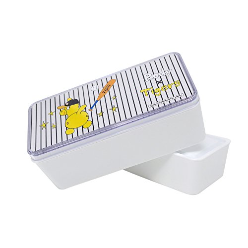 東亜金属 弁当箱 ホワイト 13.8×6.6×8.5cm 阪神タイガース×ロディ 690-012