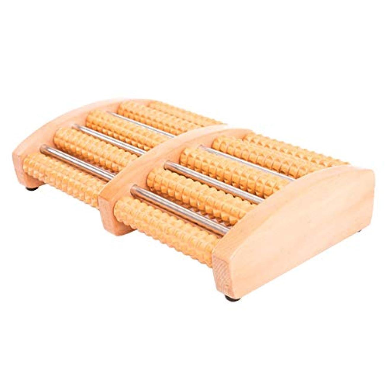 名門クロス歪めるColdwhite フットマッサージローラー、足のアーチの痛みと足底筋膜炎筋肉ローラースティック、リラクゼーションとストレス解消のための指圧リフレクソロジーツール(木製ローラー)