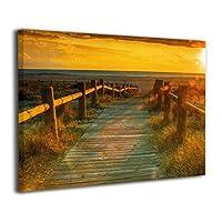 Hao Jinsun Beach Sunset Ocean Nature キャンバス アートボード アートフレーム インテリア絵画 おしゃれ モダン フレーム 部屋飾り 絵画 壁掛け アートストリート バンクシー ポスター