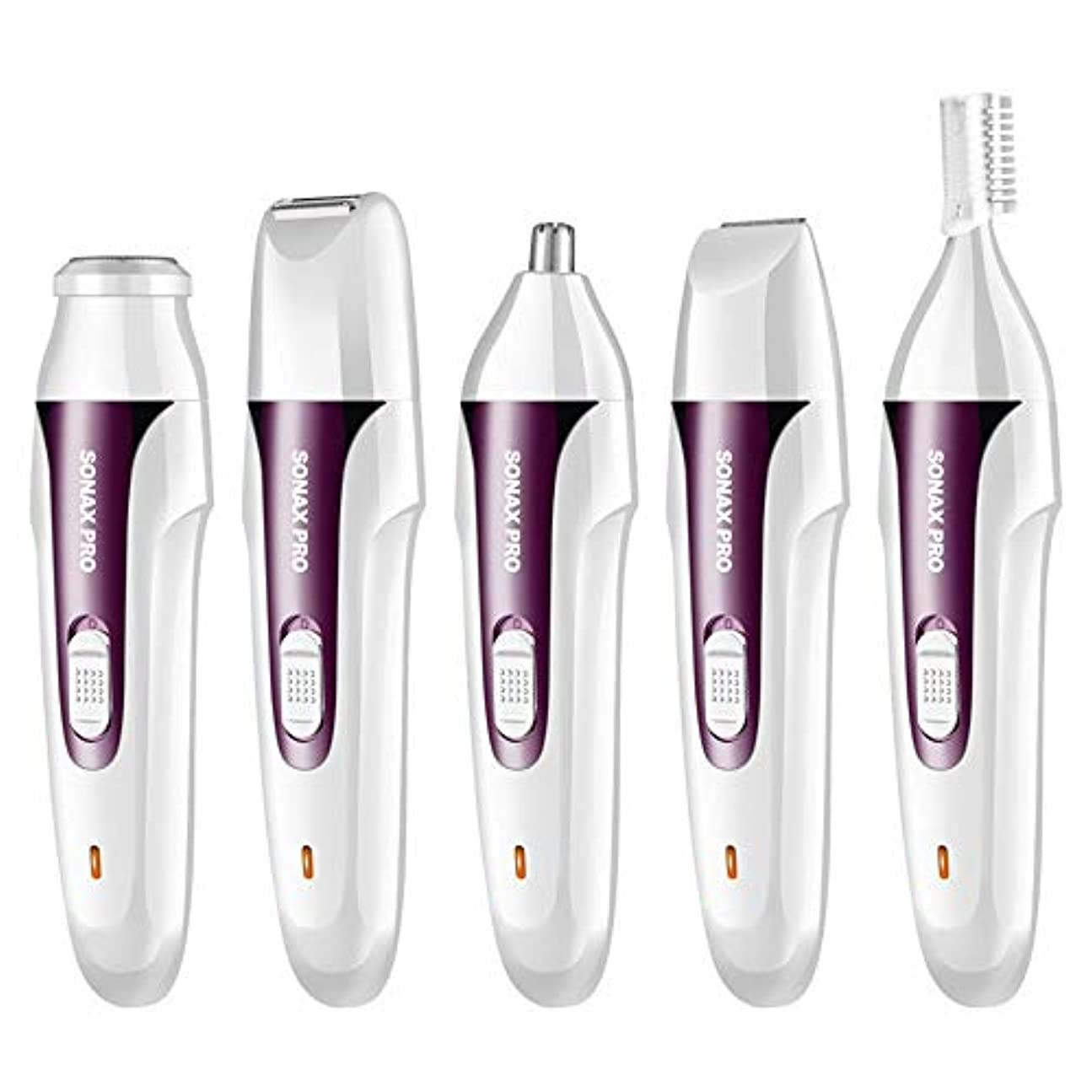 野生測定マリナー鼻毛カッター はなげカッター 電気鼻耳トリマー、眉毛トリマー、オールインONEヘアーリムーバー女性、無痛カミソリテクノロジー (Color : Purple, Size : USB)