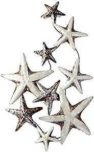 Capiz Shell Galaxy of Starfish Wall Art - White Elegance