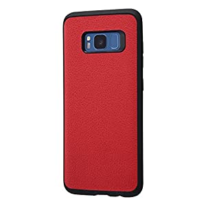 レイ・アウト Galaxy S8 ケース オープンレザー スマート/レッド RT-GS8LC12/R