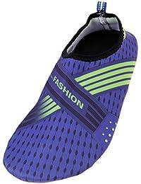 SM SunniMix 1ペア ユニセックス ウォーターシューズ ベアフットビーチ スイミングシューズ アクアソックス 滑り止め 実用的 全6サイズ