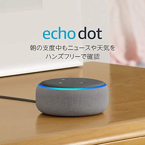 「Echo Dot」2台まとめ買いで5,980円オフ!つまり1台タダのキャンペーン(3/26まで)