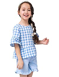 子供服 キッズ アンサンブル 女の子 上下セット ガールズ Tシャツ 夏 スカート パンツ 2点セット 半袖