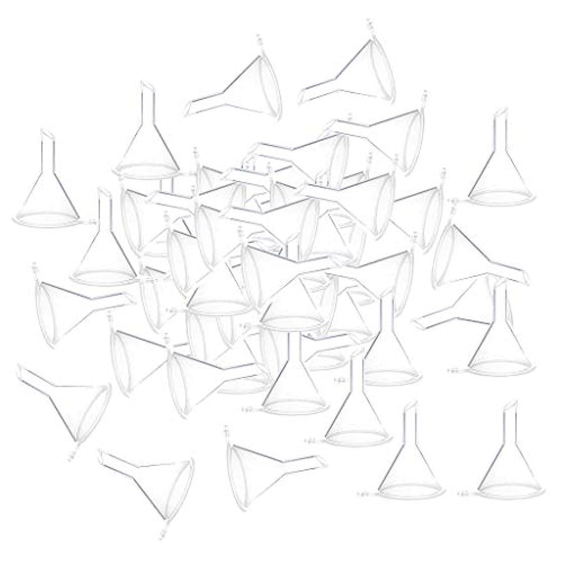 フォルダ恥ずかしさ振り向くCUTICATE 全3色 100個 小瓶 香水瓶 バイアルのため ファンネル 漏斗 - クリア