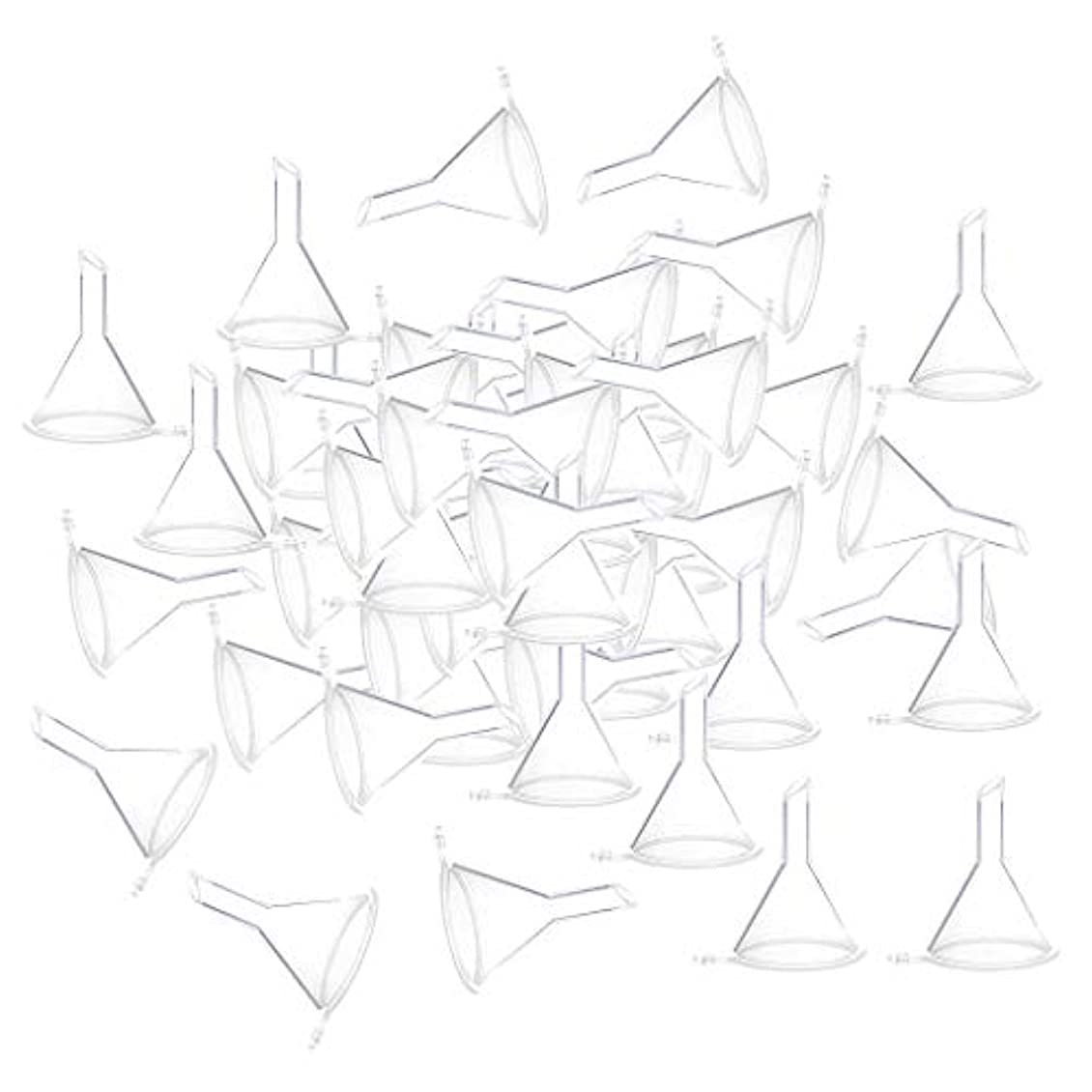 物理的な麻痺ミシン目小分けツール ミニ ファンネル エッセンシャルオイル 液体 香水用 全100個 3カラー - クリア