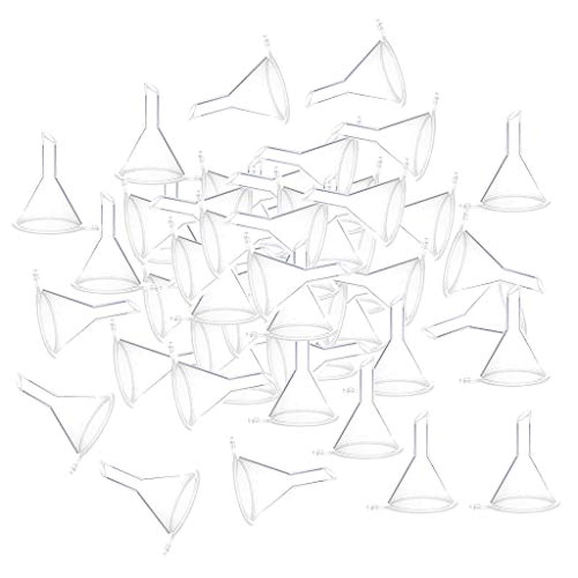 中に投げる税金全3色 100個 小瓶 香水瓶 バイアルのため ファンネル 漏斗 - クリア