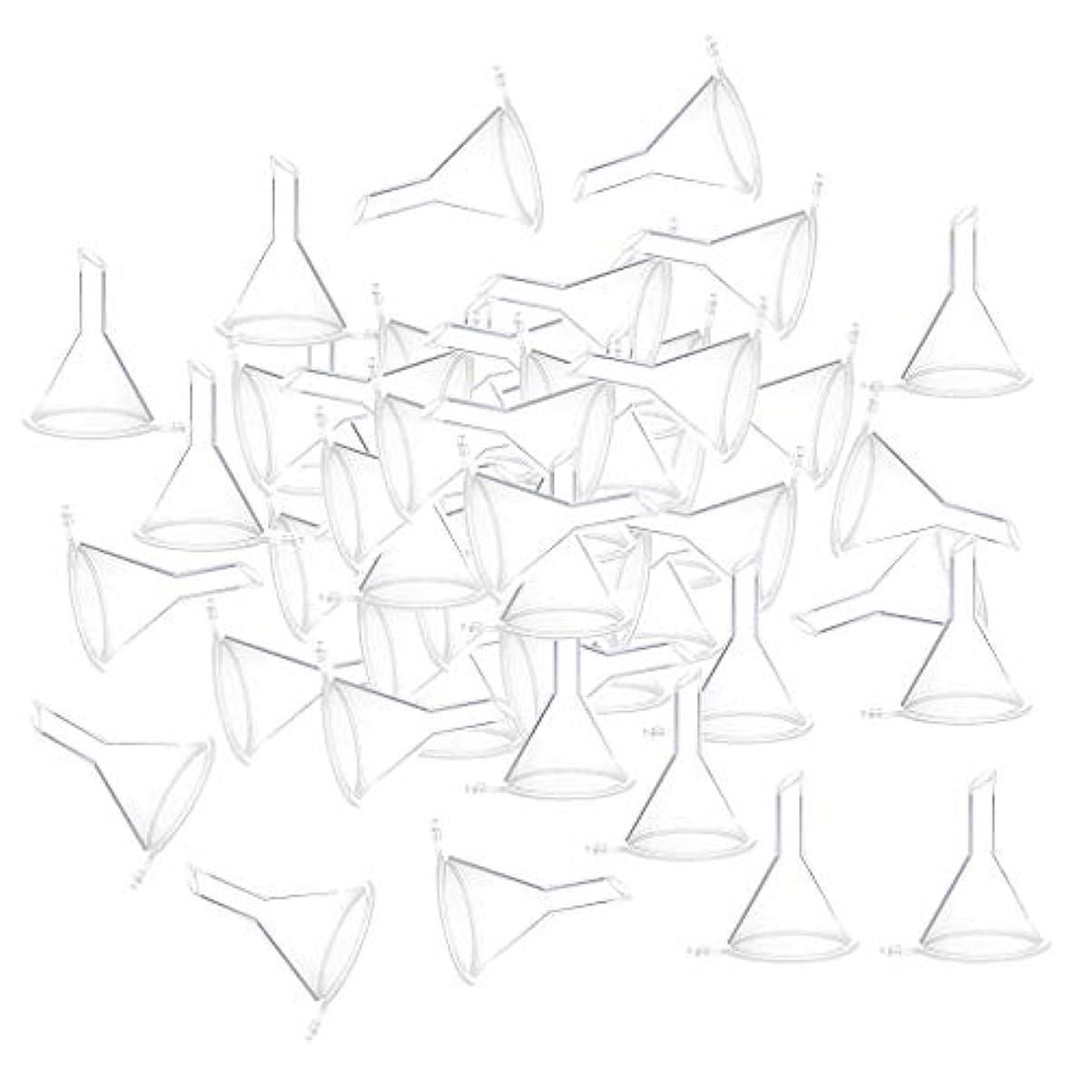 文言数学的な従者小分けツール ミニ ファンネル エッセンシャルオイル 液体 香水用 全100個 3カラー - クリア